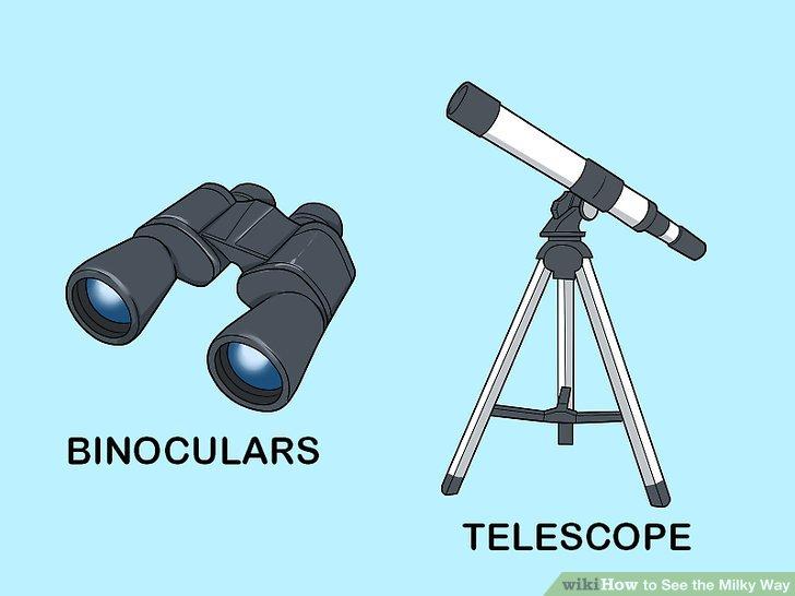 Verwenden Sie ein Fernglas oder ein Teleskop für eine genauere Betrachtung.