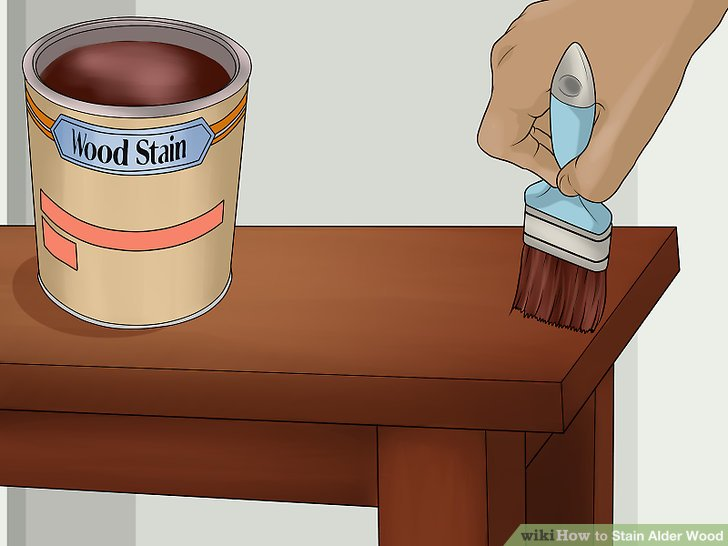 Apply a thin, even coating of stain on the entire piece of wood.