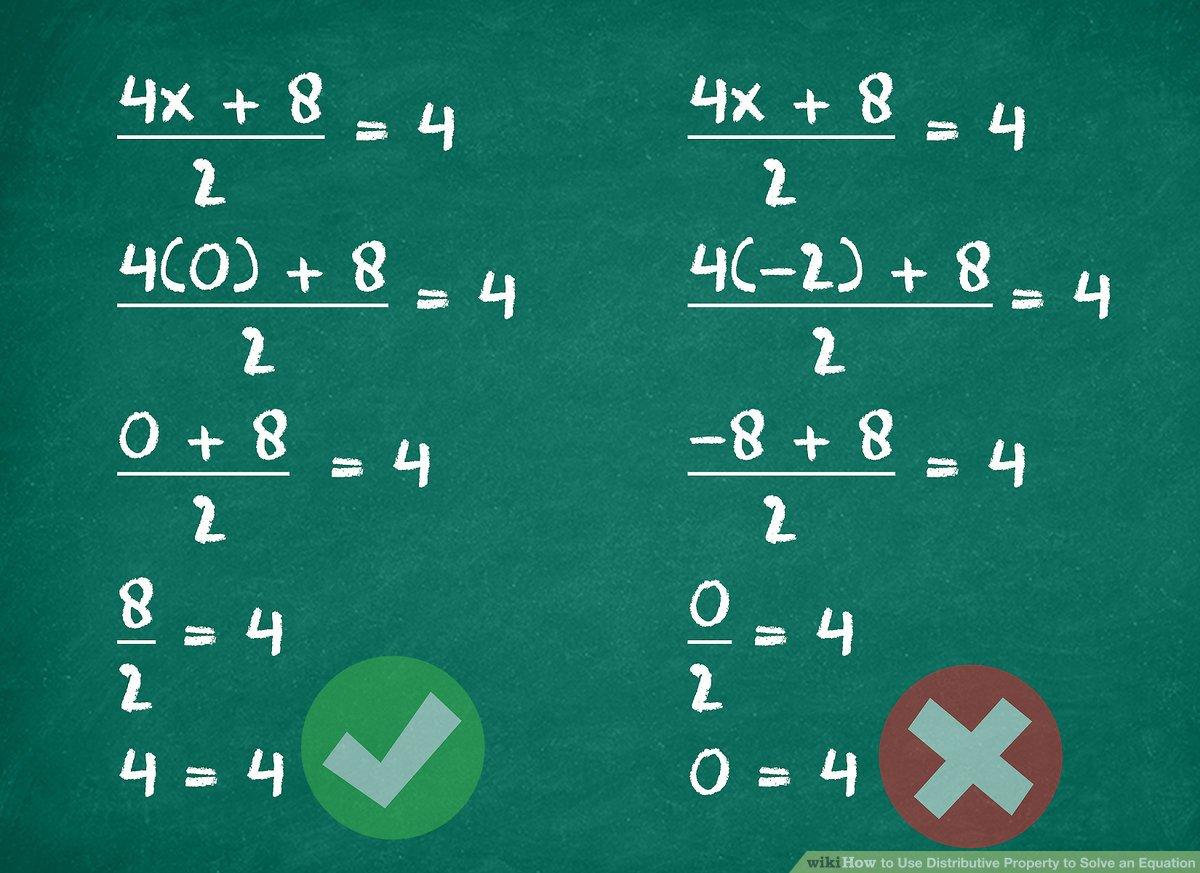 hight resolution of 4 Ways to Use Distributive Property to Solve an Equation - wikiHow