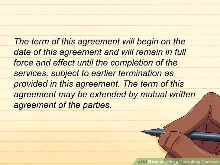 How to Write a Consulting Contract: 15 Steps (with Pictures)