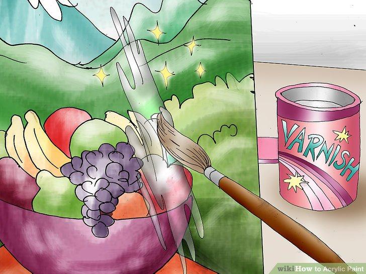 Erwägen Sie, Ihrem Gemälde einen Lack hinzuzufügen, sobald die Farbe getrocknet ist.