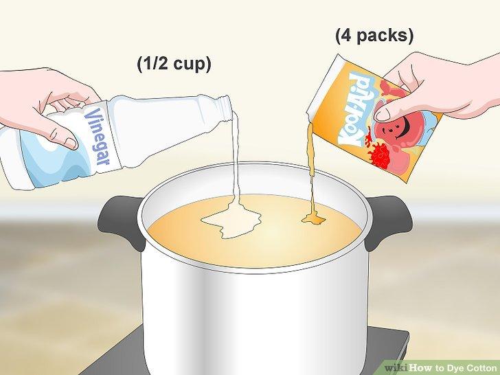 Verwenden Sie aromatisierte Getränkepakete für eine temporärere Färbung.