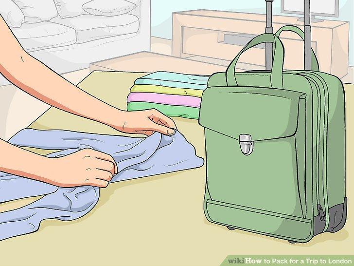 Aufteilung der Familienkleidung zwischen verschiedenen Koffern.