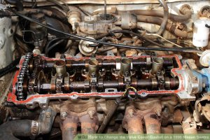 How to Change the Valve Cover Gasket on a 1996 Nissan Sentra