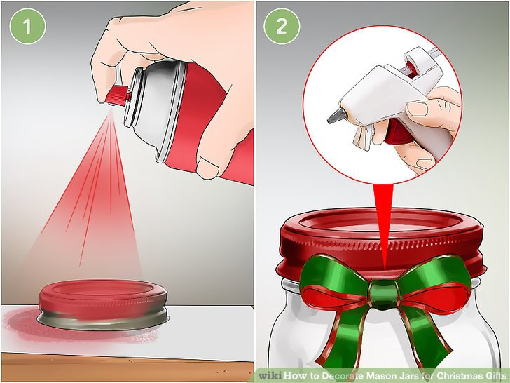 Paint the lid a festive color and/or decorate it with ribbon.