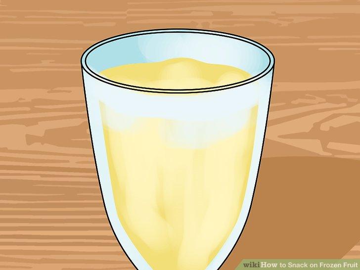 Versuchen Sie einen gefrorenen Bananen-Shake.