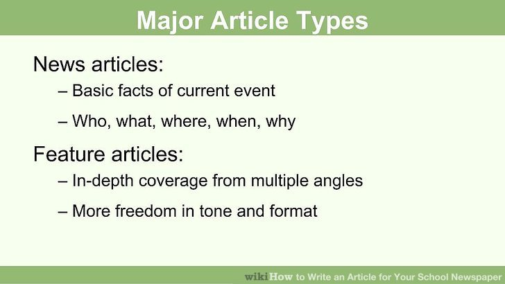 how to write a news feature article