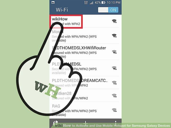 Wählen Sie den Namen des mobilen Hotspots aus der Liste der Netzwerke aus.