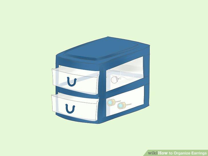 Get some mini, plastic drawer units.