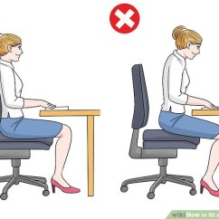 Office Chair Posture Tips Used Wedding Covers Ebay How To Sit At A Computer With Pictures Wikihow Image Titled Step 1
