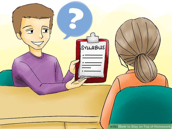 Überprüfen Sie, ob Sie Ihre Hausaufgaben beendet haben.