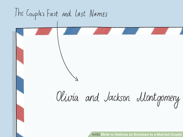 Listen Sie die Vornamen des Paares für einen informellen Stil auf.