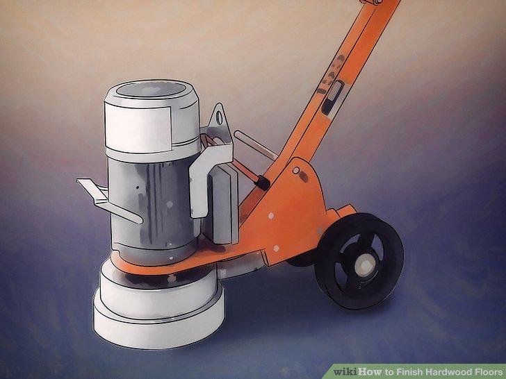 Verwenden Sie einen elektrischen Trommelschleifer, um den Boden vorzubereiten.