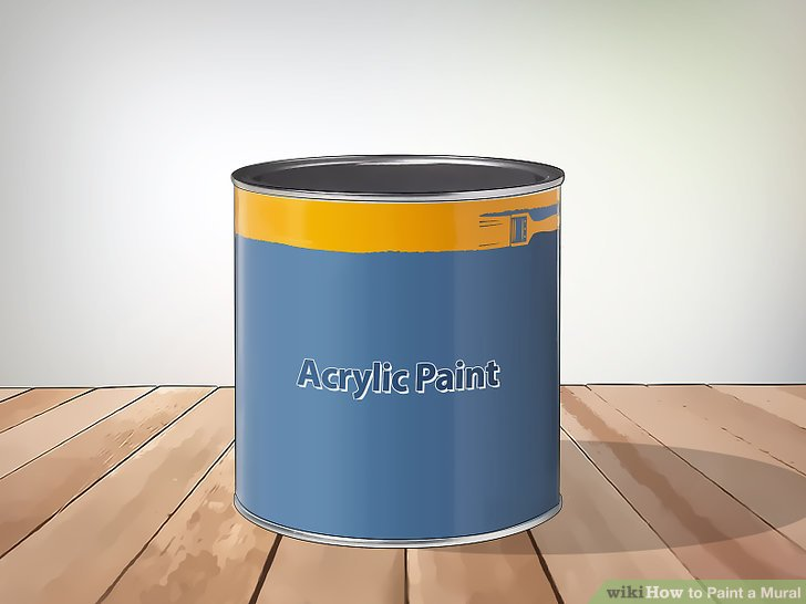 Pick an acrylic paint to resist tough outdoor weather.