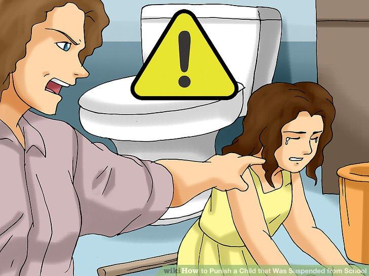 Vermeiden Sie harte Strafen, die nichts mit ihrem Fehlverhalten zu tun haben.