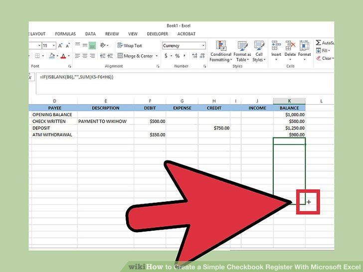 how to how to create a simple checkbook register with microsoft excel