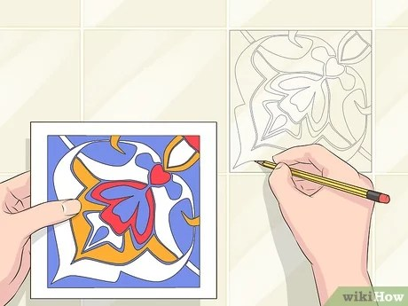 how to do tile painting 14 steps with