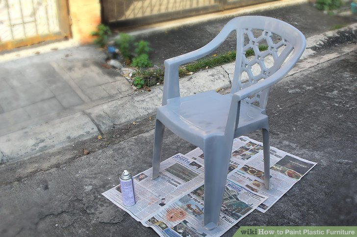 how to paint plastic chairs retro desk chair 3 ways furniture wikihow image titled step 6