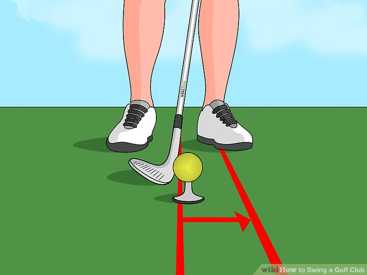 Start with your front foot slightly ahead of the ball.