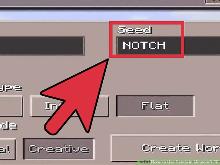 How To Use Seeds In Minecraft PE 6 Steps With Pictures