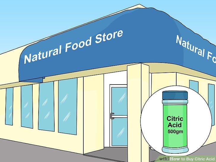 Sitrik asit için doğal gıda dükkanlarını kontrol edin.