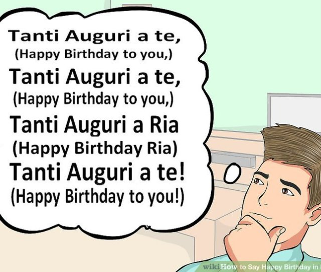 Image Titled Say Happy Birthday In Italian Step