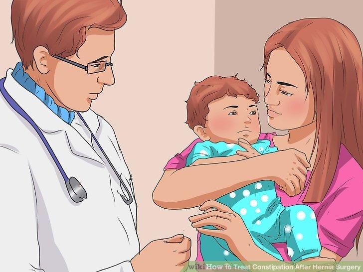 Lassen Sie Ihr Kind auf einen Nabelbruch untersuchen.