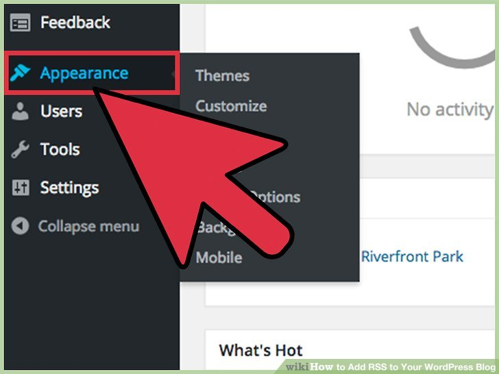 """Find the """"Appearance"""" Tab."""