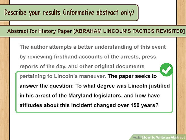 How To Write An Abstract With Examples WikiHow
