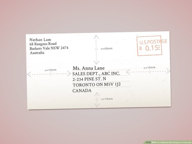 How to Address Envelopes to Canada: 22 Steps (with Pictures)