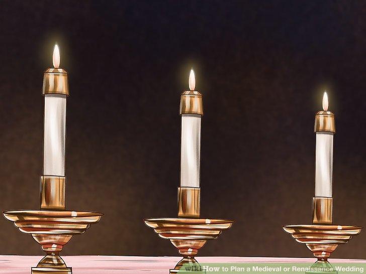 Dekorieren Sie den Veranstaltungsort mit Kerzen.