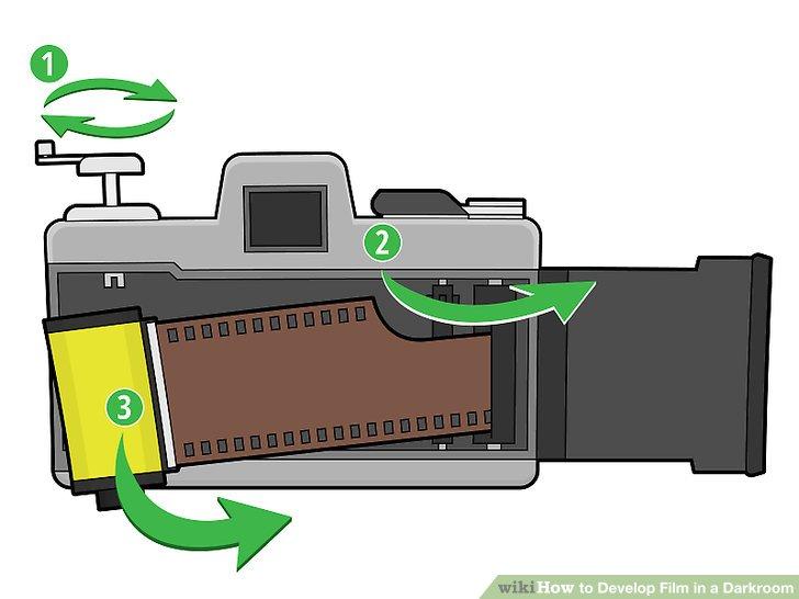 Nehmen Sie die Filmrolle, die Sie entwickeln möchten, aus Ihrer Kamera heraus.
