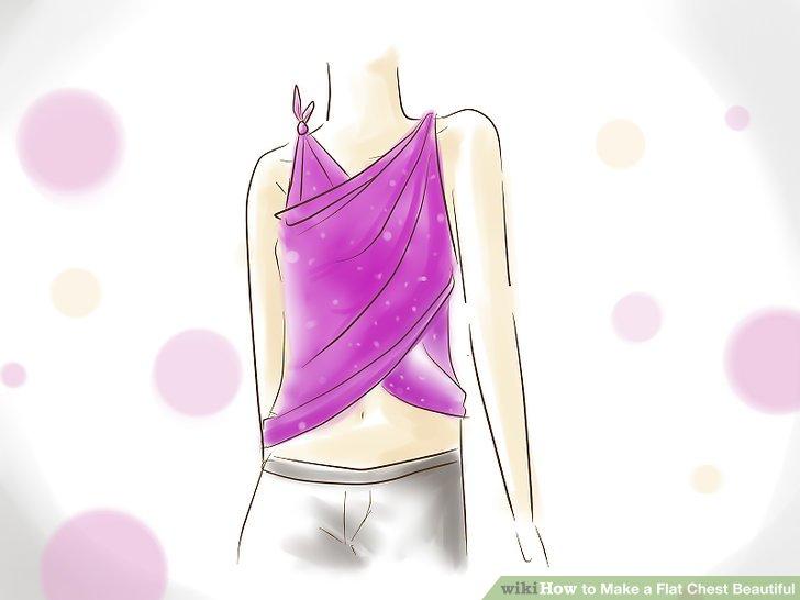 Tragen Sie einen Schal oder ein Kopftuch als Oberteil.