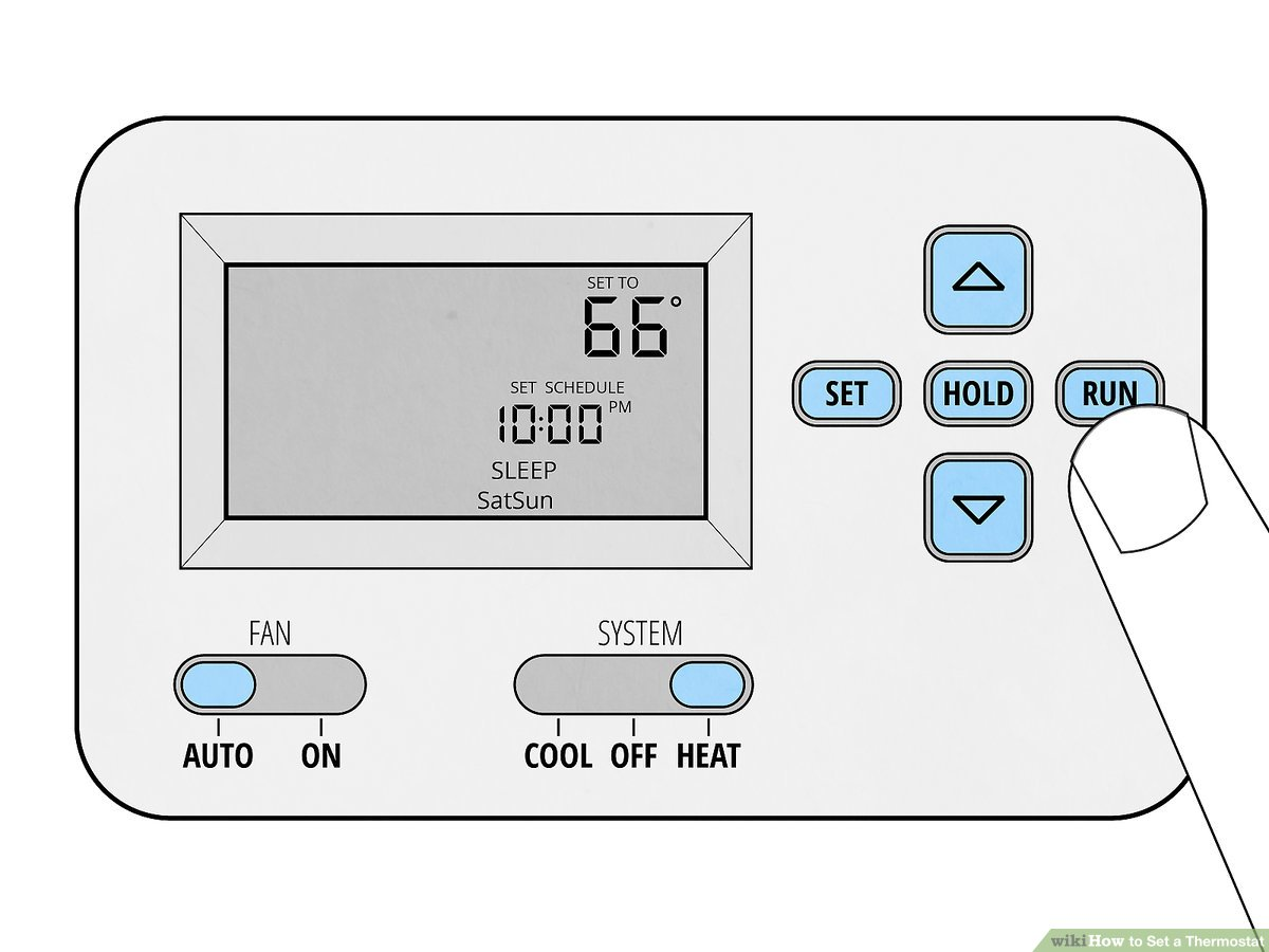 hight resolution of  how to set a thermostat 14 steps with pictures wikihow lux thermostat two stage furnace wiring