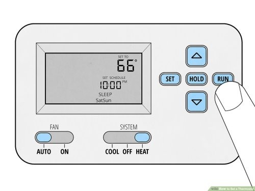 small resolution of  how to set a thermostat 14 steps with pictures wikihow lux thermostat two stage furnace wiring