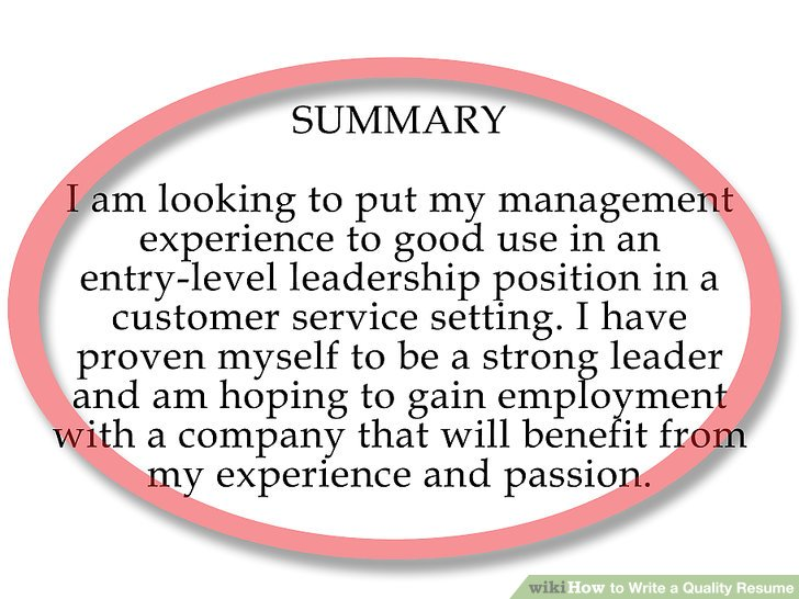 How To Write A Quality Resume 7 Steps With Pictures