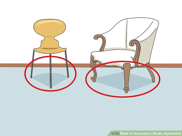 Wählen Sie Möbel Mit Sichtbaren Beinen.