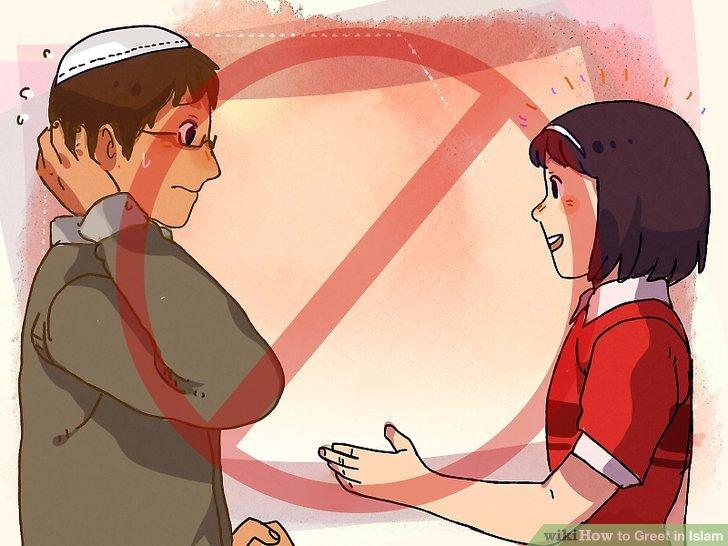 Geben Sie den männlichen Muslimen nicht die Hand, wenn Sie weiblich sind.