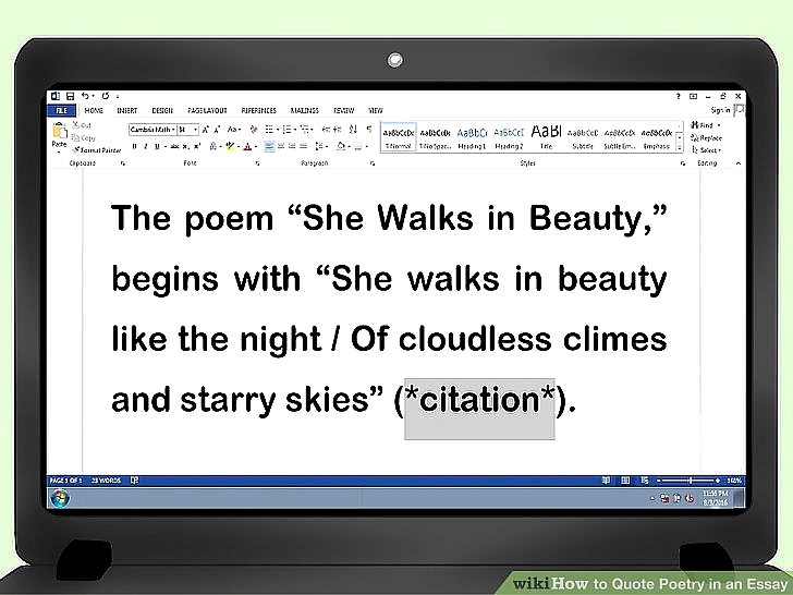 chicago style quote poem in essay citations picture how to quote poetry in an essay pictures wikihow image titled quote