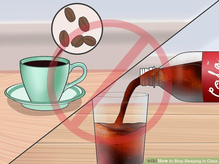 Vermeiden Sie zuckerhaltige Lebensmittel und Koffein.