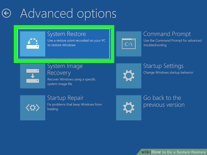 How to Do a System Restore with Pictures  wikiHow
