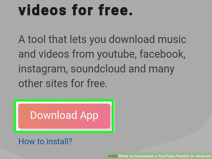 How To Download A Youtube Playlist On Android With Pictures