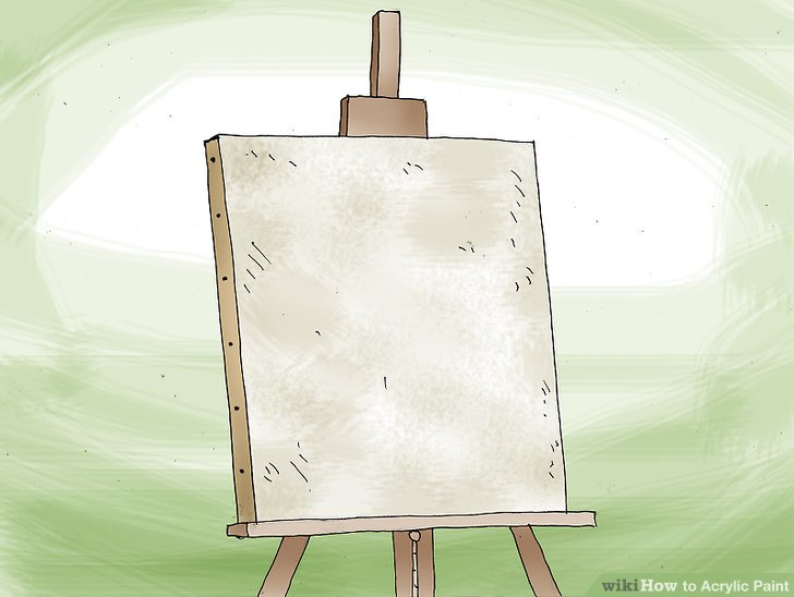 Entscheide, worauf du malen möchtest.