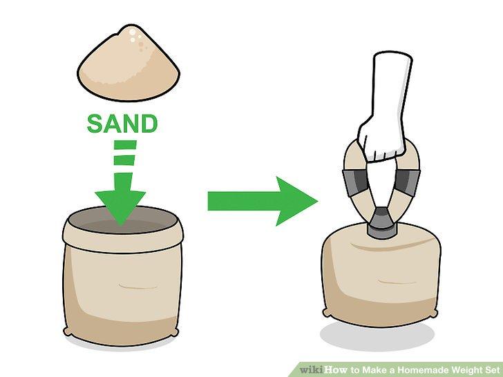 Machen Sie aus einem Kartoffelsack eine Kettlebell.