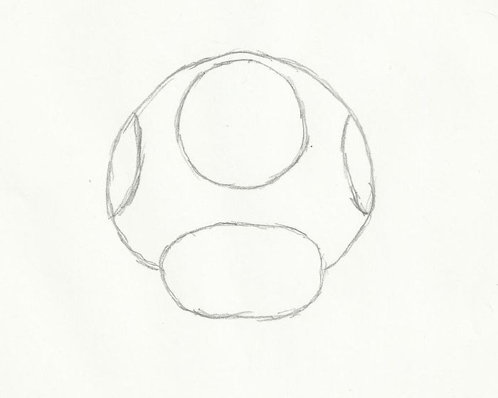 How to Draw a Mario Mushroom: 5 Steps (with Pictures