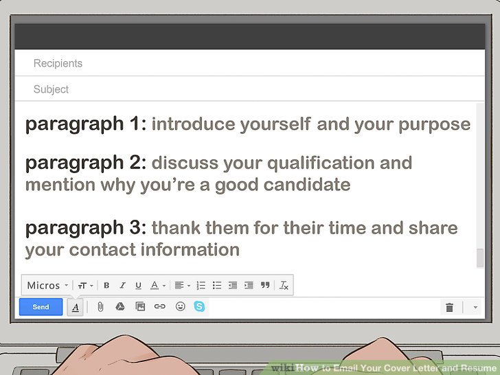 How To Send A Cover Letter In Email