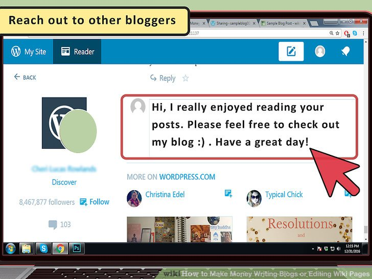 Kontaktiere andere Blogger.