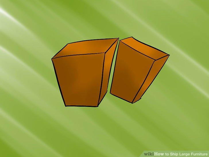 Entfernen Sie alle Füße oder andere zerbrechliche Teile von den Möbeln.