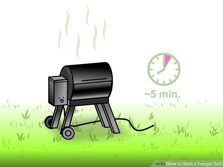 Let the grill sit for about 5 minutes.