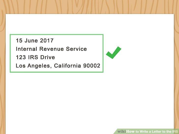 Add the IRS address.